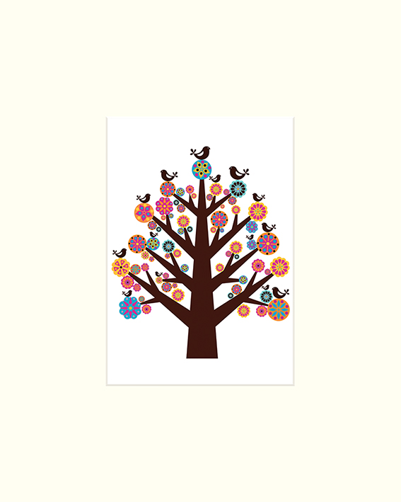 Valentina Ramos (Tree of Flowers) Mounted Print