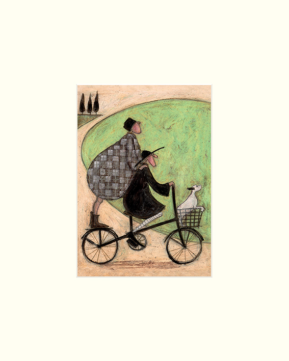 Sam Toft (Double Decker Bike) Mounted Print