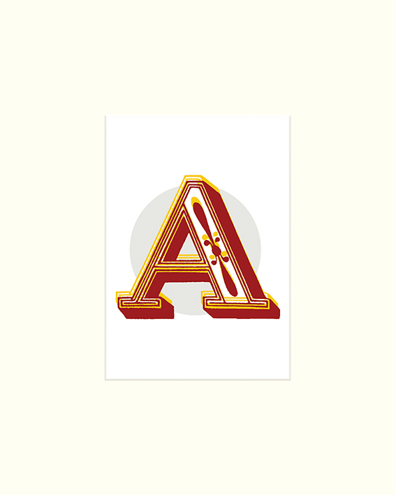 Vintage Letter (A) Mounted Print