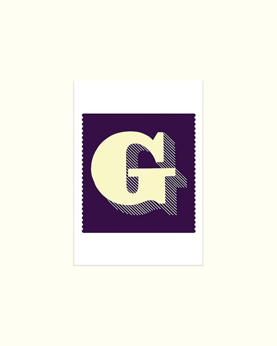 Vintage Letter (G) Mounted Print
