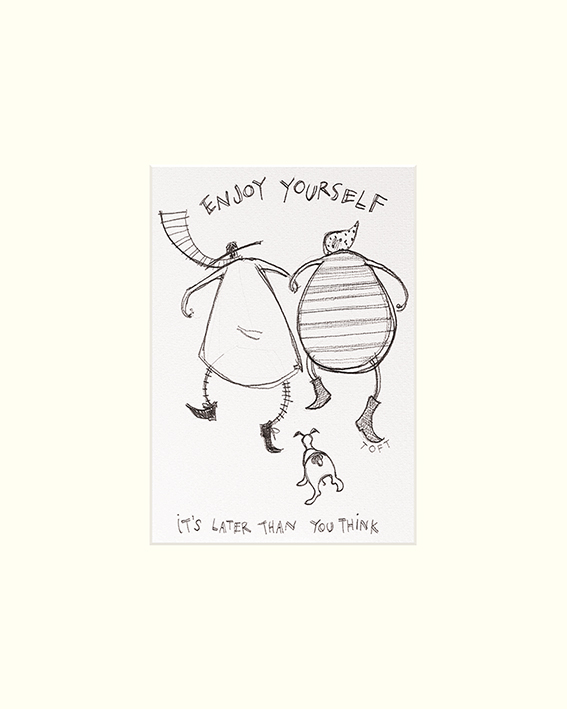 Sam Toft (Enjoy Yourself) Mounted Print