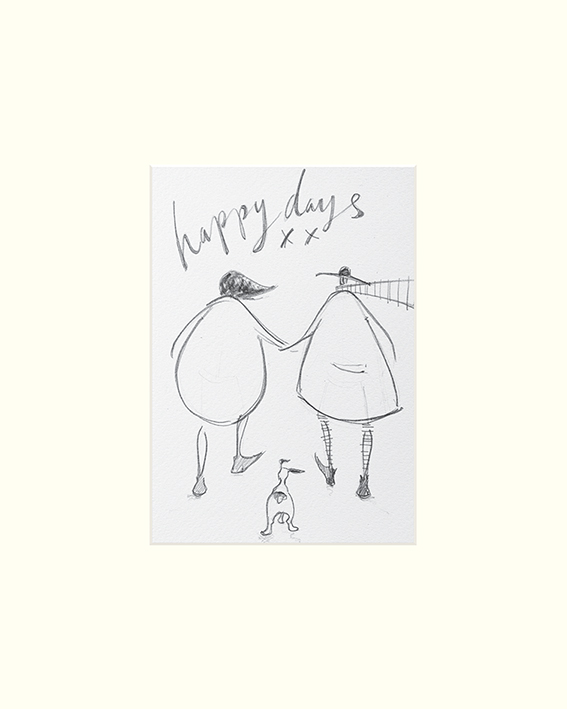 Sam Toft (Happy Days sketch) Mounted Print
