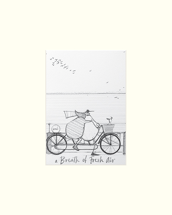 Sam Toft (A Breath of Fresh Air sketch) Mounted Prints