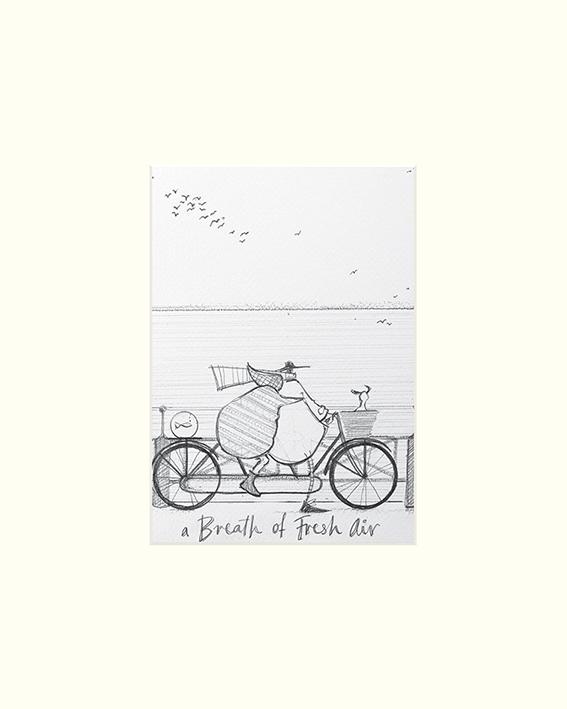 Sam Toft (A Breath of Fresh Air sketch) Mounted Print