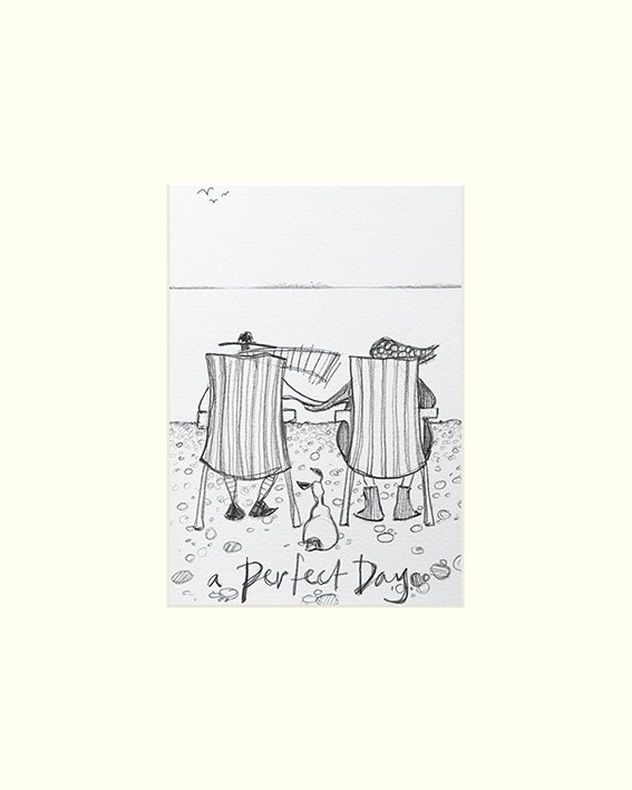 Sam Toft (A Perfect Day sketch) Mounted Print