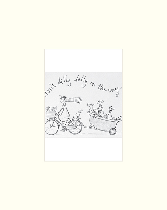 Sam Toft (Don't Dilly Dally sketch) Mounted Prints