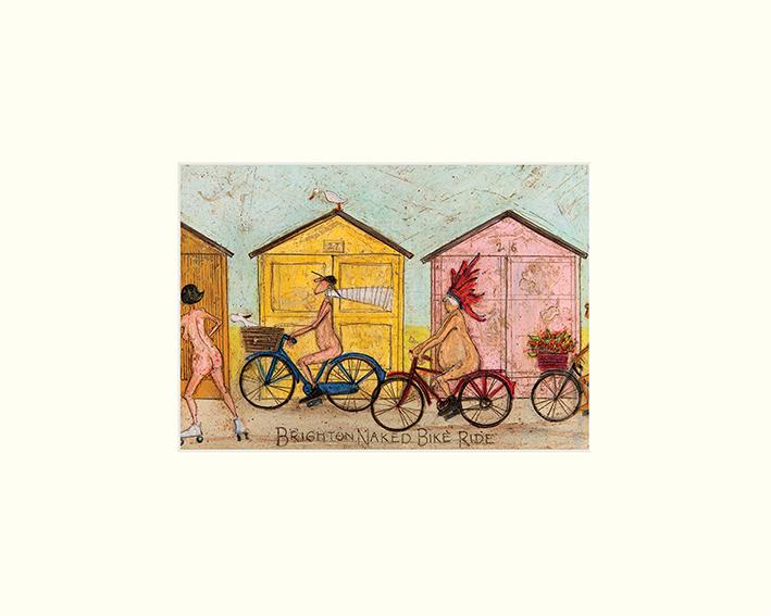 Sam Toft (Brighton Naked Bike Ride) Mounted Prints