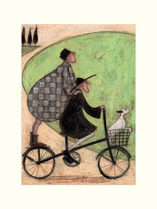 Sam Toft (Double Decker Bike) Mounted Print