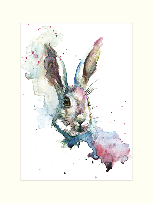 Sarah Stokes (March Hare) Mounted Print
