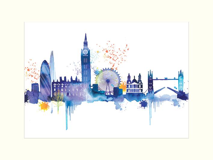Summer Thornton (London Skyline) Mounted Prints