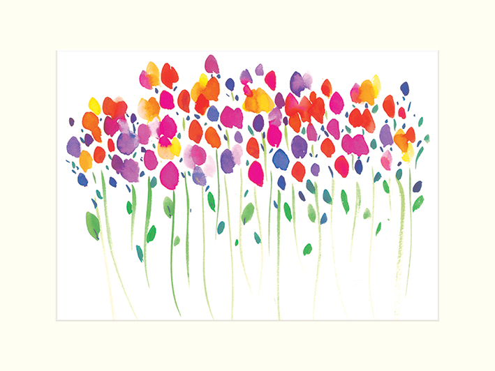 Summer Thornton (Vibrant Floral) Mounted Prints