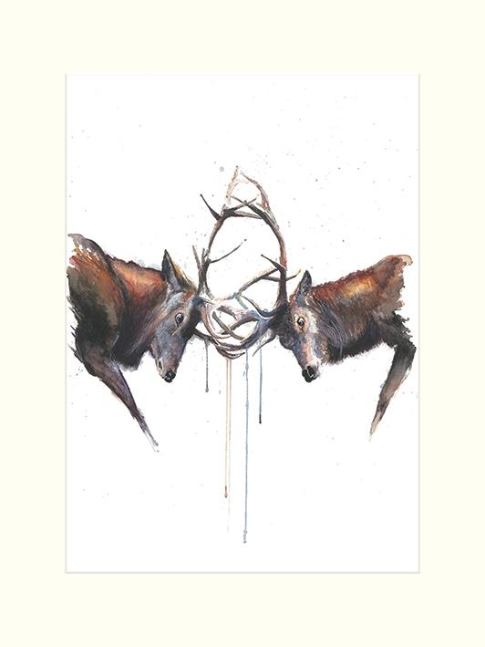 Sarah Stokes (Headstrong) Mounted Print