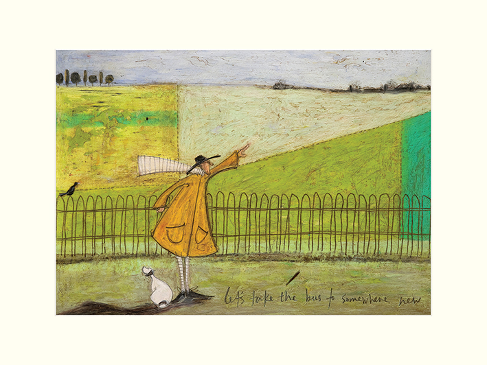 Sam Toft (Let's Take The Bus To Somewhere New) Mounted Print