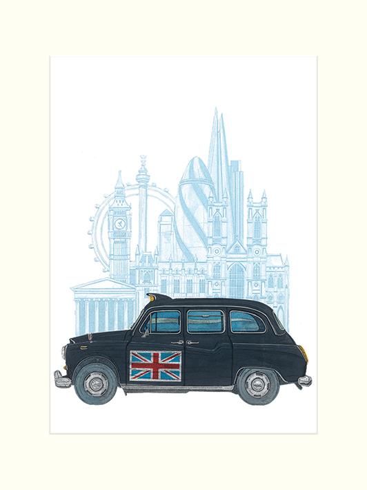 Barry Goodman (London Taxi) Mounted Prints