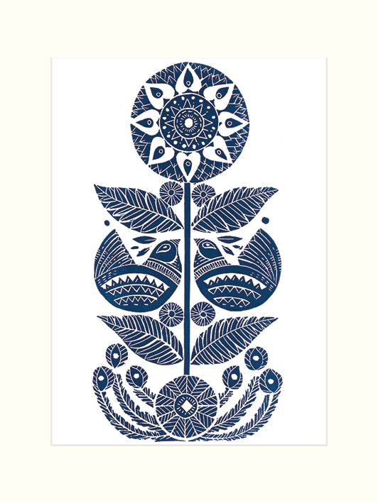 Amanda Colville (Sunflower Birds) Mounted Prints
