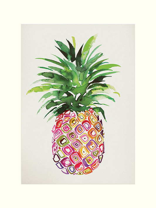 Summer Thornton (Pineapple) Mounted Print