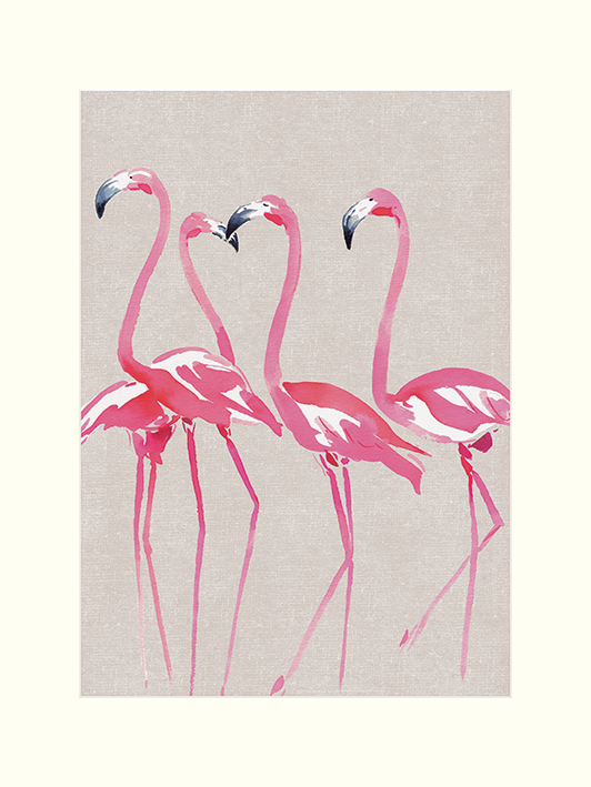 Summer Thornton (Elegant Flamingos) Mounted Prints