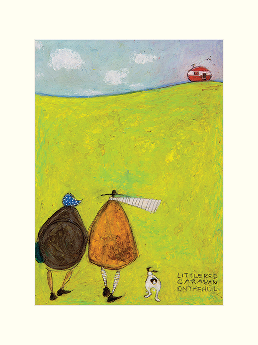 Sam Toft (Little Red Caravan On The Hill) Mounted Prints