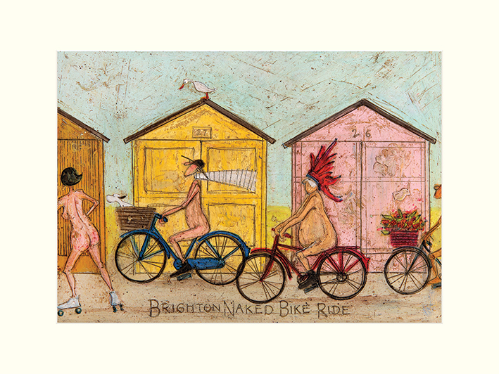 Sam Toft (Brighton Naked Bike Ride) Mounted Prints