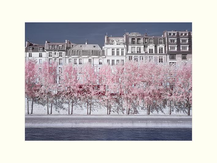 David Clapp (River Seine Infrared, Paris) Mounted Prints