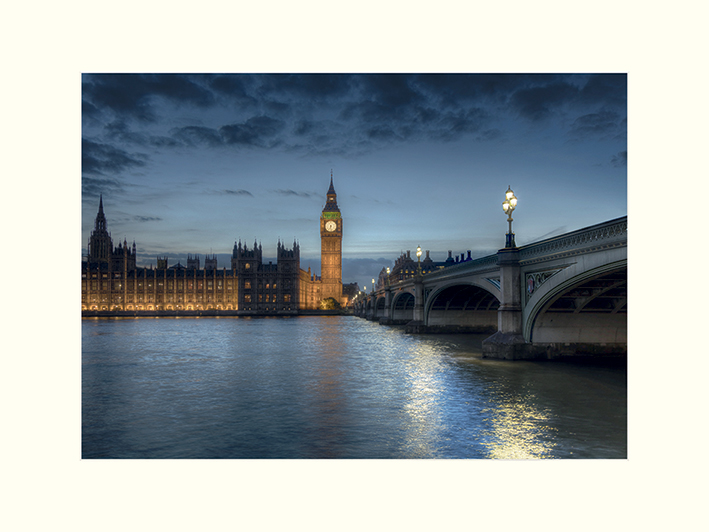 Rod Edwards (Twilight, London, England) Mounted Print
