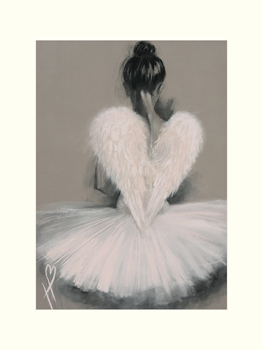 Hazel Bowman (Angel Wings) Mounted Print
