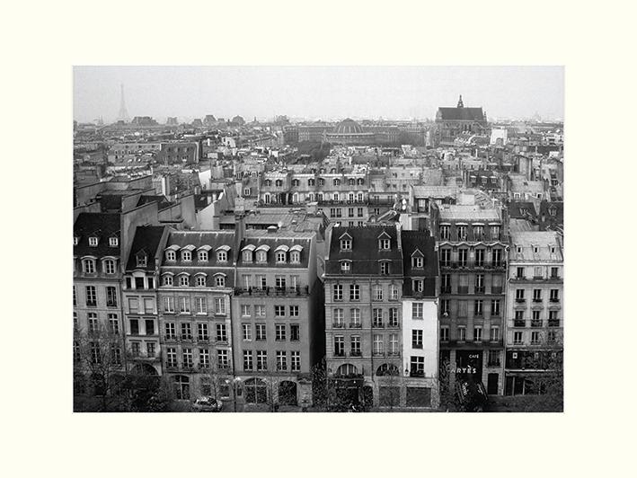Heiko Lanio (Parisian Rooftops) Mounted Print