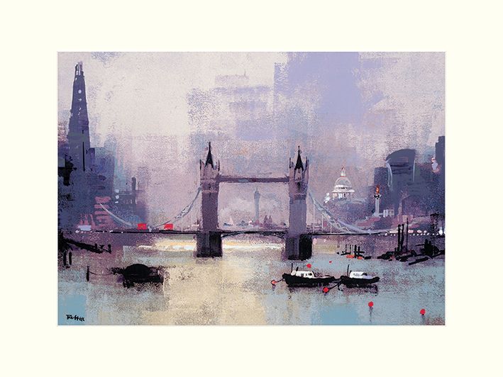 Colin Ruffell (St Paul's and Tower Bridge) Mounted Prints