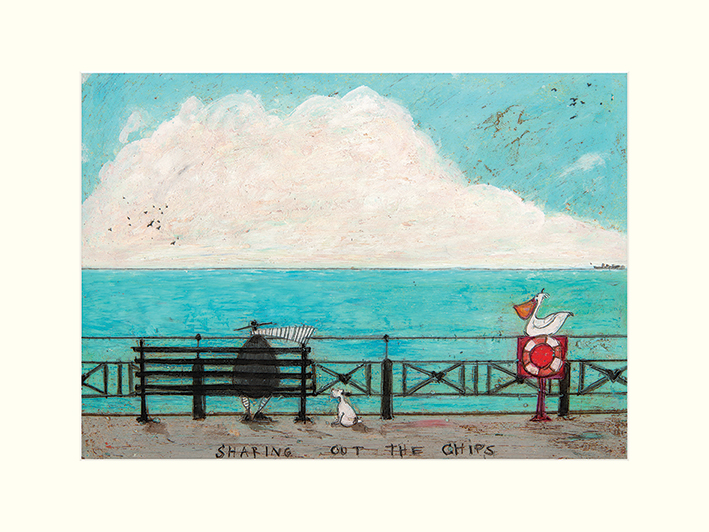 Sam Toft (Sharing out the Chips) Mounted Print