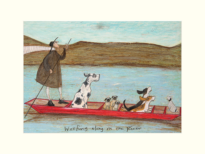 Sam Toft (Woofing along on the River) Mounted Prints