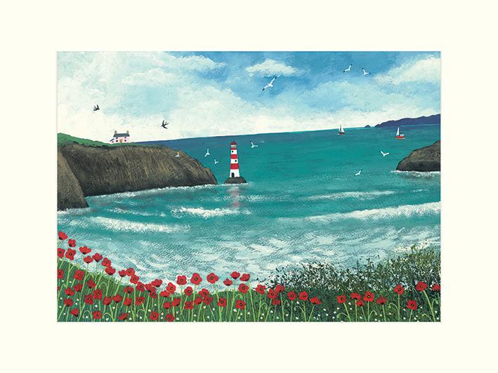Jo Grundy (The Lighthouse at Poppy Bay) Mounted Prints