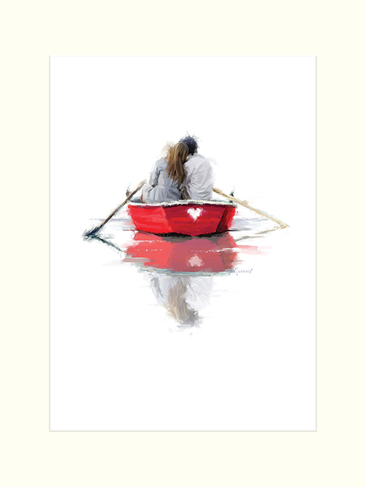 Richard Macneil (Couple in a Boat) Mounted Prints