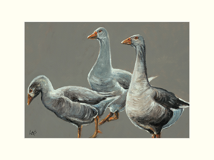 Louise Brown (Having a Gander) Mounted Prints