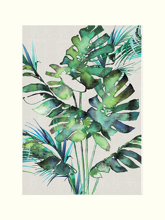 Summer Thornton (Monstera Leaves) Mounted Prints