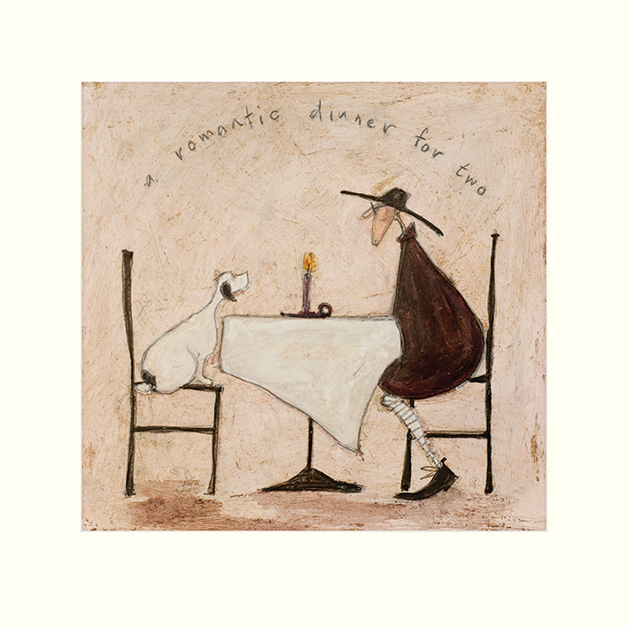 Sam Toft (A Romantic Dinner For Two) Mounted Prints