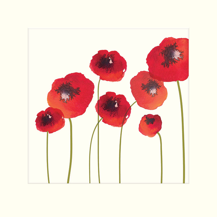 Nicola Evans (Poppies) Mounted Prints