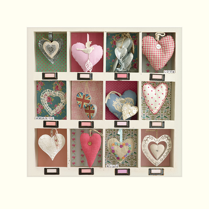 Howard Shooter (Hearts Collection) Mounted Prints