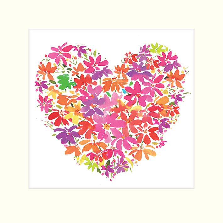 Summer Thornton (Floral Heart) Mounted Prints
