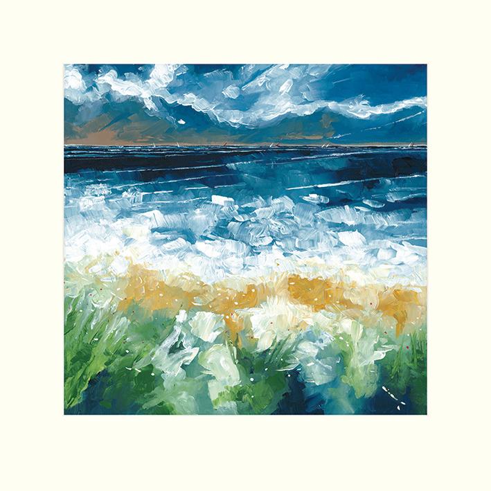 Stuart Roy (Sea and Blue Sky IV) Mounted Print