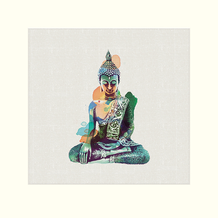 Summer Thornton (Jade Buddha) Mounted Print