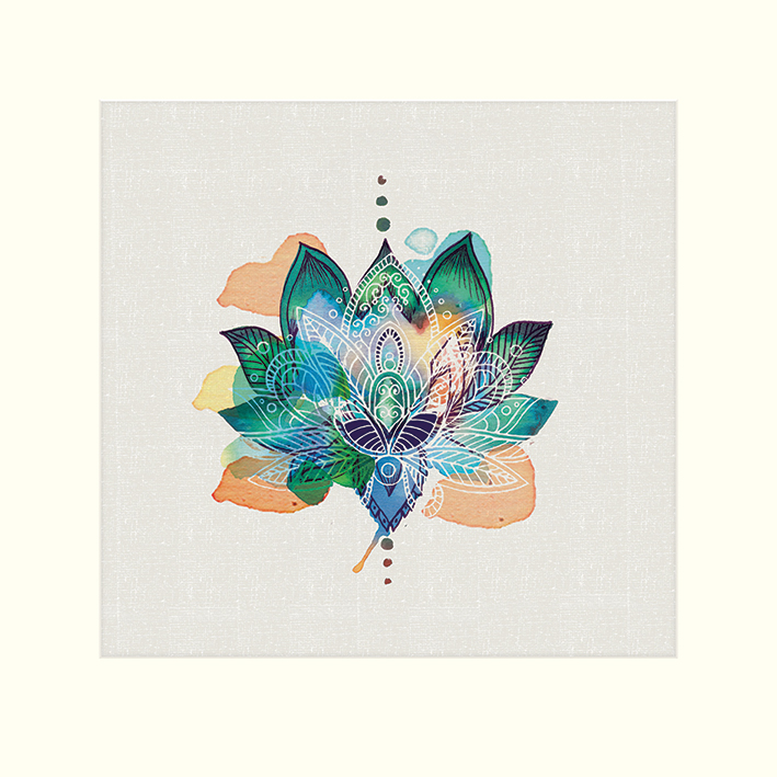 Summer Thornton (Lotus Flower) Mounted Prints