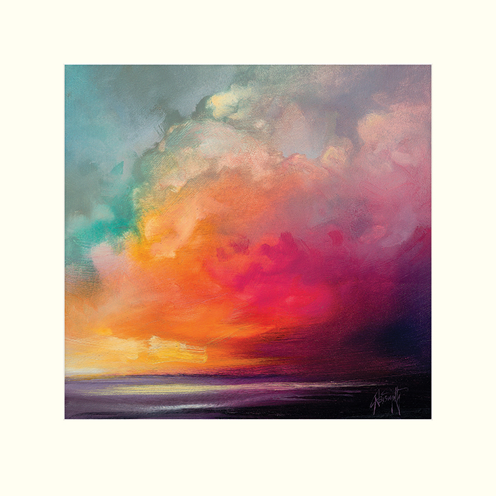 Scott Naismith (Sunset Cumulus Study 1) Mounted Prints