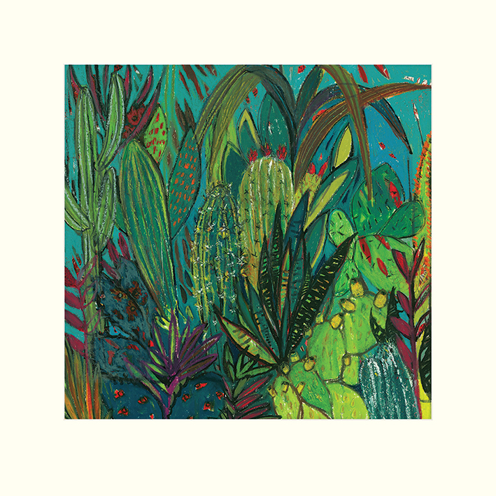 Shyama Ruffell (Cactus Jungle) Mounted Prints