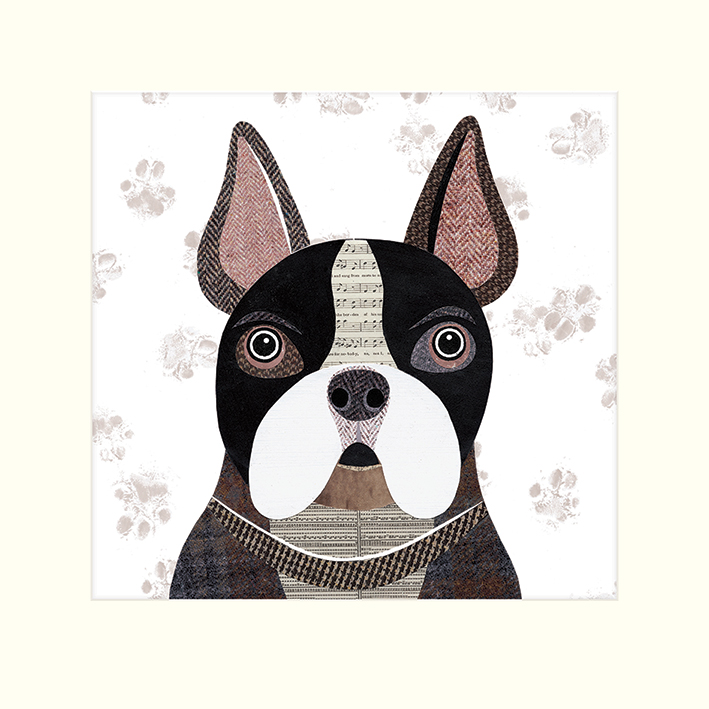 Simon Hart (French Bulldog) Mounted Print