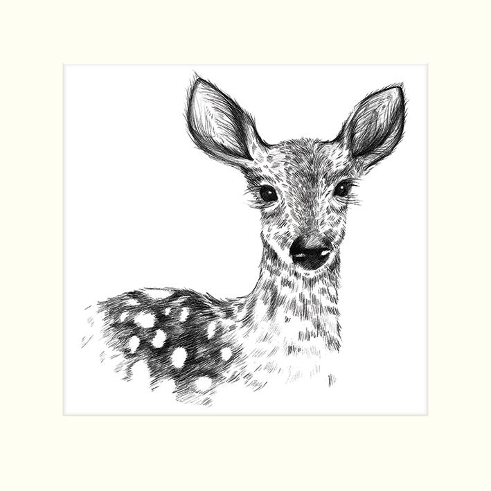 Sofie Rolfsdotter (Deer) Mounted Print