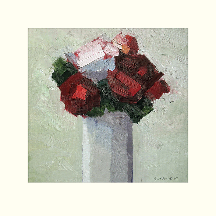 Paul Donaghy (Red Bouquet) Mounted Print