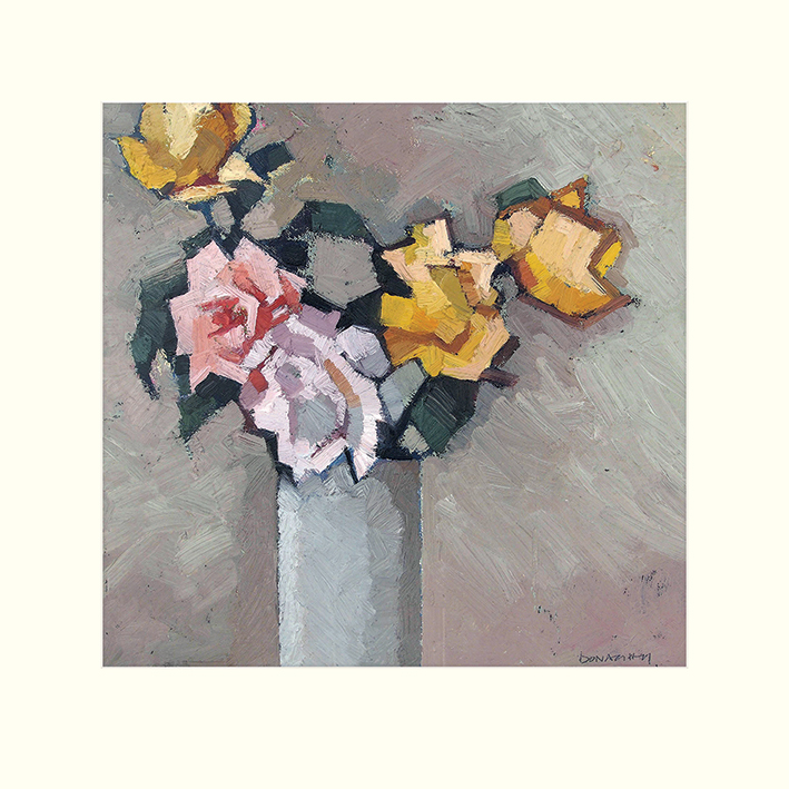 Paul Donaghy (Mixed Roses) Mounted Print