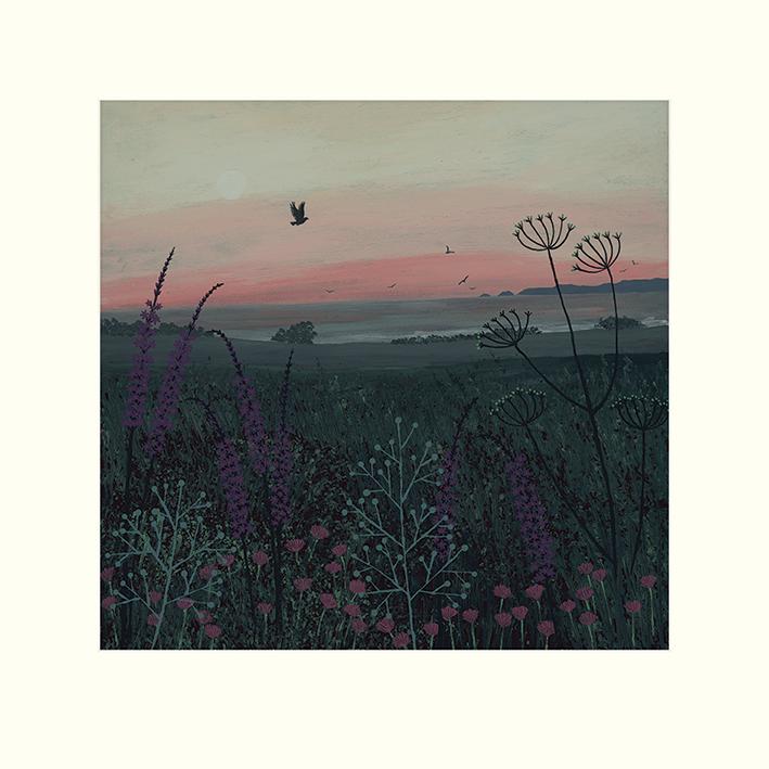 Jo Grundy (Coastal Dawn) Mounted Print