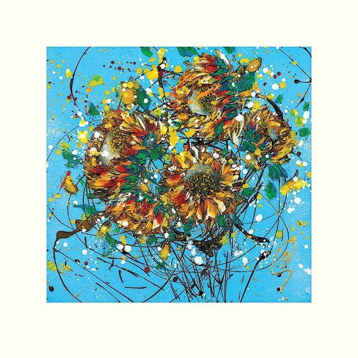 Clare Sykes (Sun Seeds Breeze 2) Mounted Print