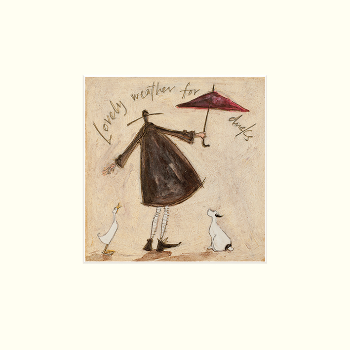 Sam Toft (Lovely Weather For Ducks) Mounted Print